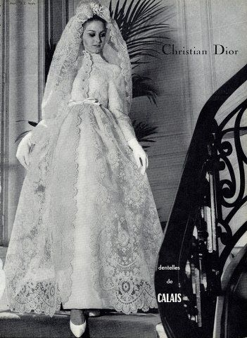 Christian Dior 1964 Wedding Dress Fashion Photography