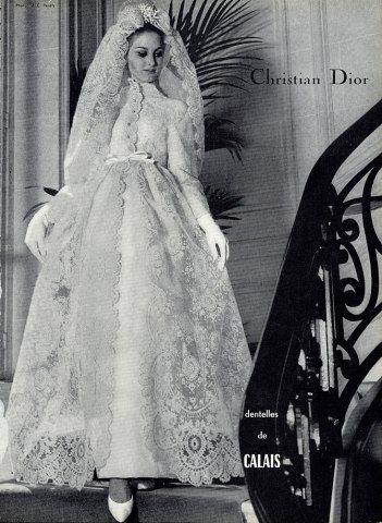 Christian Dior 1964 Wedding Dress Fashion Photography