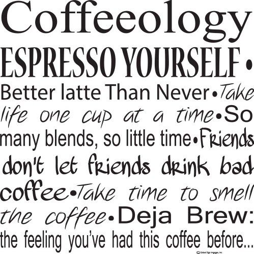 "Kitchen Wall Decals-Coffeeology Espresso Yourself Wall Decals-Coffee Quotes-Coffee Decals- Coffee Decor- Coffee Wall Sayings 20""X20"" http://www.amazon.com/dp/B00E40V1IC/ref=cm_sw_r_pi_dp_24ycvb0TBCRWA"