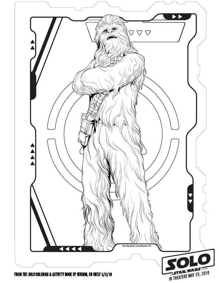 chewbacca coloring pages Free Chewbacca coloring page   Disney Solo A Star Wars Story  chewbacca coloring pages