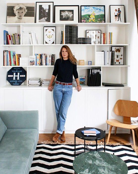 Les 25 meilleures id es de la cat gorie biblioth ques sur for Meuble salon petit espace