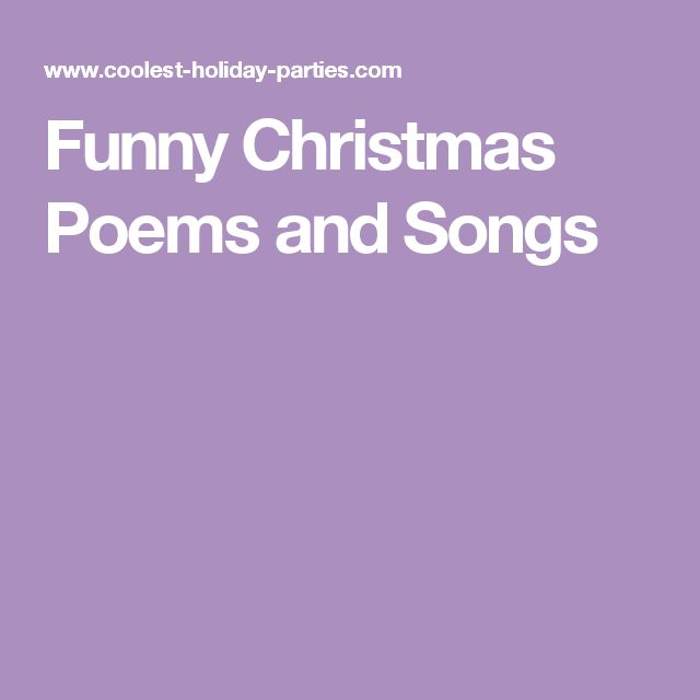 Funny Christmas Poems and Songs