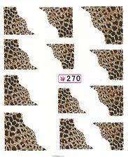 040 Nailart Nagelsticker 12 Aufkleber für Nägel Französisch Zebra Leopard