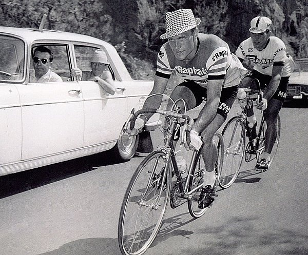 Rudi Altig - being someone riding the tour de France is awesome enough, but doing it in that hat . .