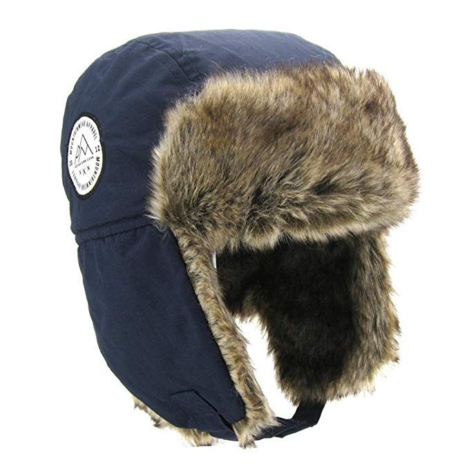 802d76a60148d Moon Kitty Boys Winter Hats Big Kids Cowboy Cloth Aviator Winter Earflap Cap  Navy 1-3Years