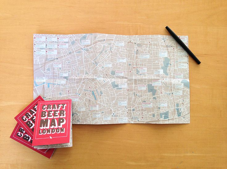 Map of London's craft beer pubs, coffee and cocktail maps also available.