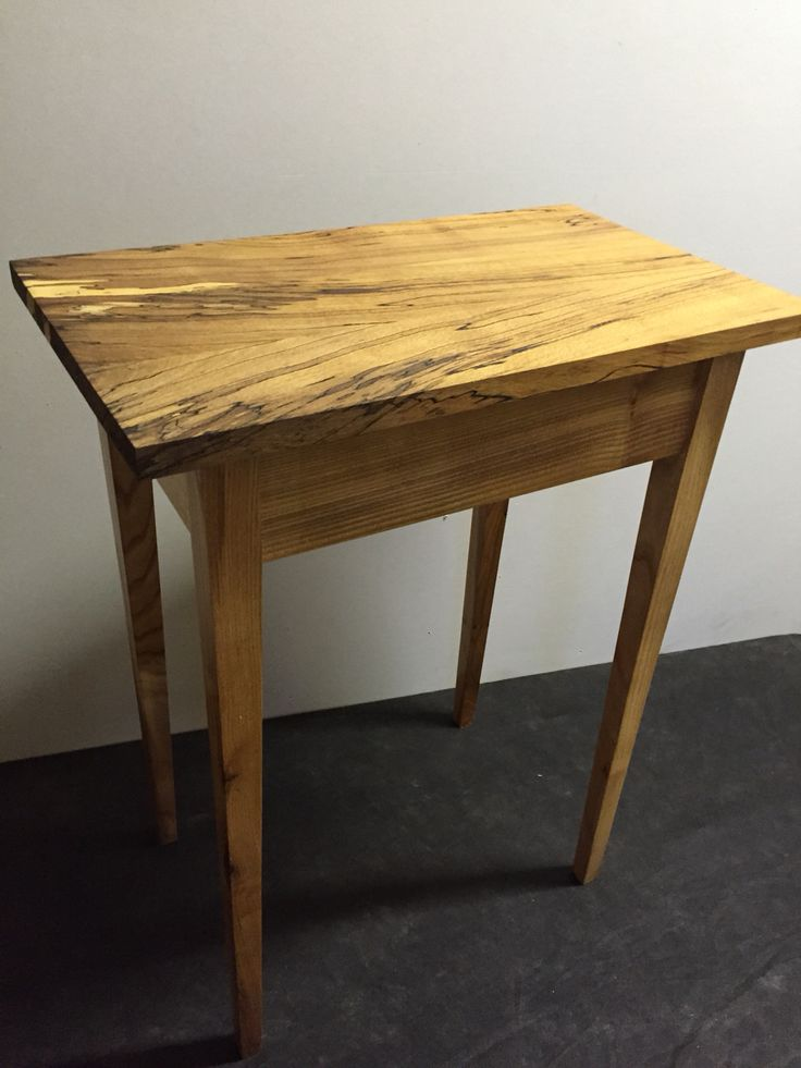Elm side table with spalted beech top.