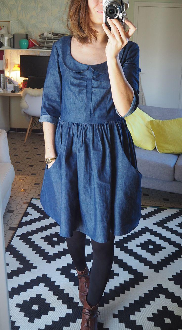 C'est en train de devenir une petite obsession ce jean en prévision du printemps ;-)   J'ai utilisé le même tissu q...