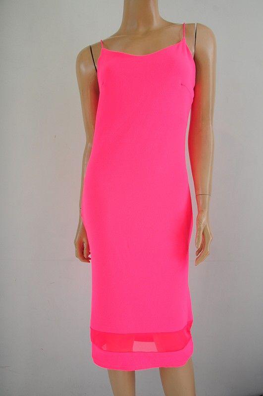 2b319eed76d97d Sukienka różowa neonowa r. 42 METKA Violet w 2019 | dress | Sukienka ...