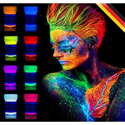 Les 25 meilleures id es de la cat gorie f te fluorescente - Peinture phosphorescente corps ...