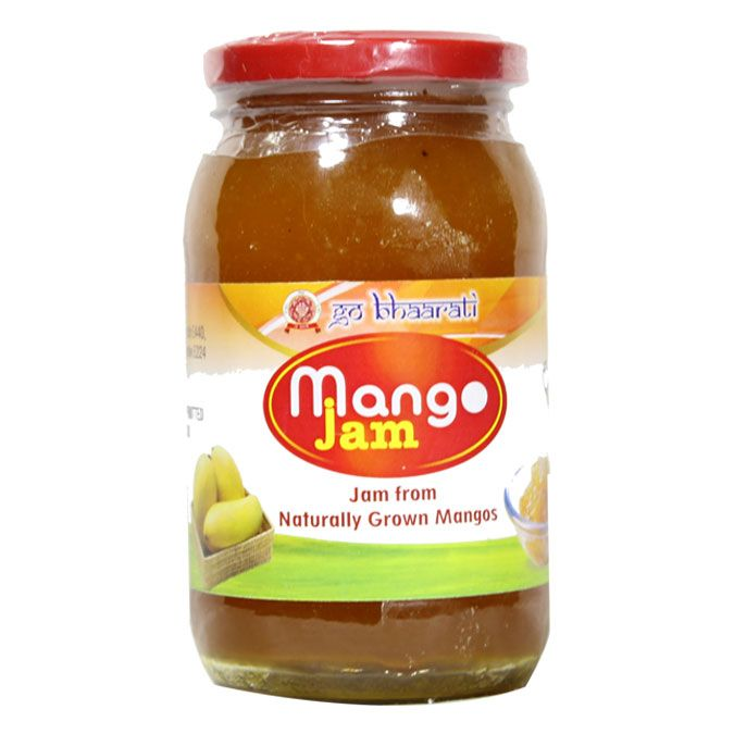 "GoBhaarati Mango Jam is the Jam from Naturally grown Mangoes. Mango Jam is an excellent source of Vitamin-A, they also contain minerals and antioxidants that assure your optimal health. It is also known to protect from lung and oral cavity cancers. Common name for Mango Jam is ""the king of fruits"". These are the remedies for High Blood Pressure patients. It is the best fruit for Weight Gain as some people work hard to put on Weight for a variety of reasons."