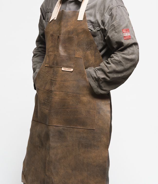 Leather Workshop Apron, Industrial Leather Apron, Men's Leather Apron, Blacksmith Apron, Men's Gift, Tattoo Artist Apron, Shop Apron