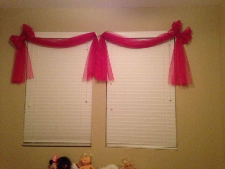 Tulle Curtains Use Sparkly Tulle Command Hooks And