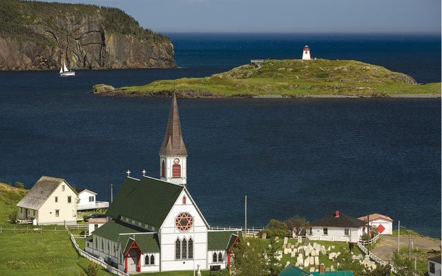 Canada's Newfoundland and LabradorSt. Paul's Anglican Church, built in 1892, graces the historic village of Trinity.