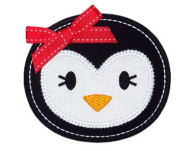 Penguin applique  Note to self - use this in the circles of the baby blanket - should be great!