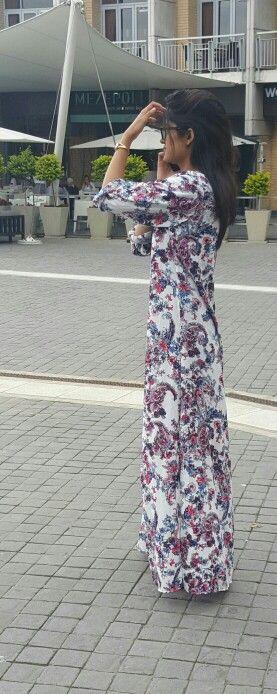 Abayas modest wear coat jacket floral long