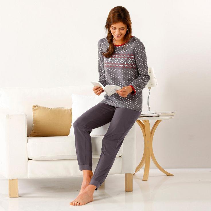Le pyjama Blancheporte esprit chalet, pas mieux pour cocooner…