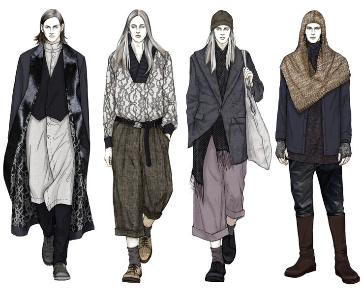 Fashion Illustrator Mengjie Di: Stylesight Menswear 2014 FW