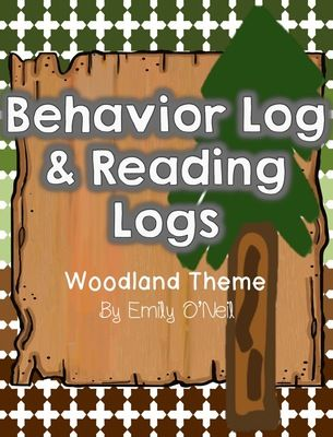 Behavior Log and Weekly Reading Logs (Woodland Theme) from EmilyO. from EmilyO. on TeachersNotebook.com (13 pages)  - This is a great way to keep parents updated on their child's daily behavior. I would send this home with the reading log on the back every week. I have uploaded in PowerPoint so that you can edit it.