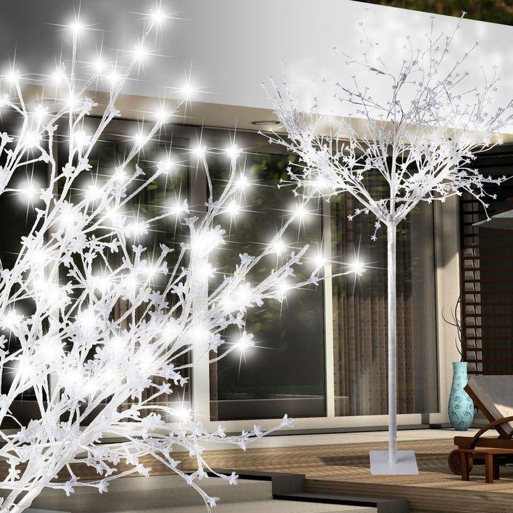 Details Zu Eleganter Outdoor Winter Baum Steh Leuchte 600x LED Weiß Rasen  Garten Haus Lampe