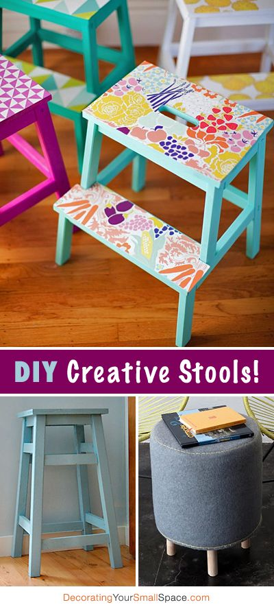 DIY Creative Stools • Tons of Ideas & Tutorials!