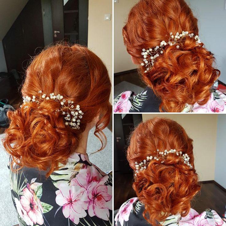 Nasza Gałązka - Ozdoba do włosów a Fryzurka w Wykonaniu Pani Anetki  Fryzury Upięcia Ślubne Wieczorowe ANET