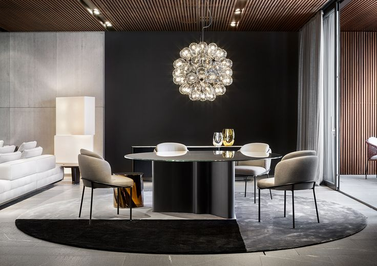 """Lou """"Dining"""" table, Fil Noir """"Dining"""" chair, Christophe Delcourt design"""