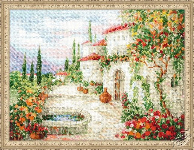 At the Fountain - Cross Stitch Craft Kits by RIOLIS - 1472