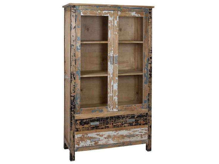 160 best mueble rustico industrial images on pinterest for Mueble vitrina