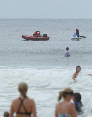 The search continues at Bennetts Beach.