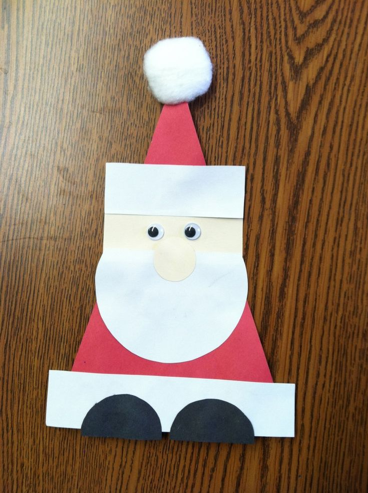 Geometric Santa (Could you make other holiday characters using circles, rectangles, squares, and triangle, too? - leprechaun, turkey, etc)