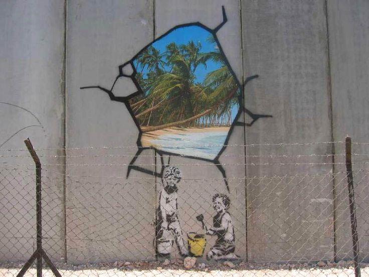 Banksy street art: behind the wall