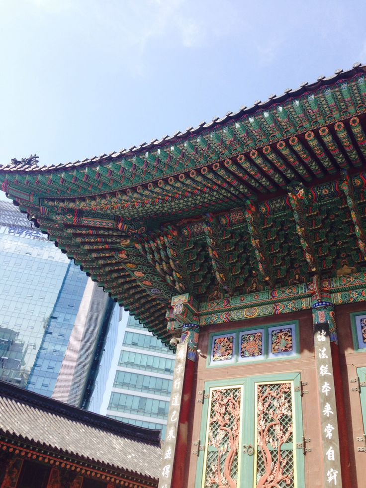 A temple near downtown, Myungdong, seoul.