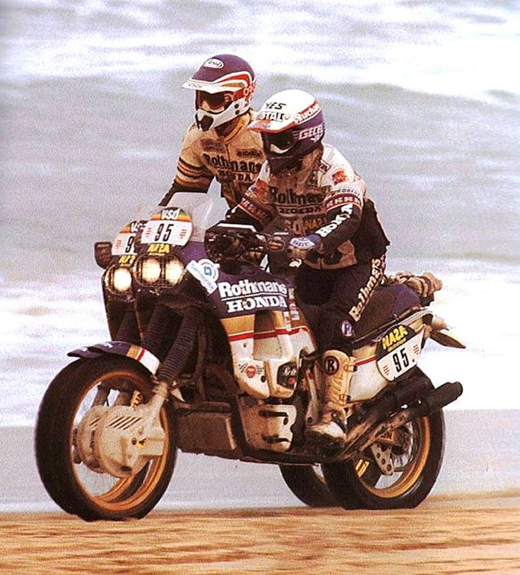 Cyril Neveu & Gilles Lalay, Honda NXR 780, Dakar Rally, 1986.
