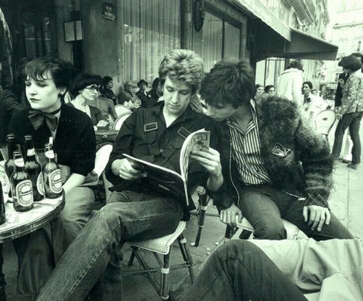 Siouxsie Sioux, Steve Jones and Glen Matlock, 1975.