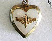 Vintage U S Army Air Corps Sweetheart Locket