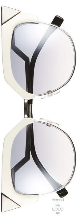 Fendi 54mm Metal Tipped Cat Eye Sunglasses | LOLO❤