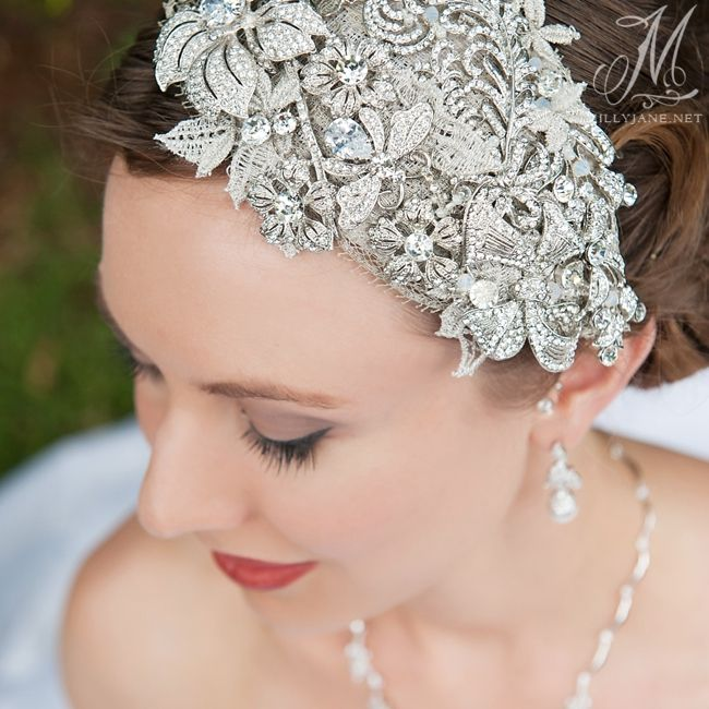 For the Bespoke bride. Stella - Antique silver. By Wendy Louise designs