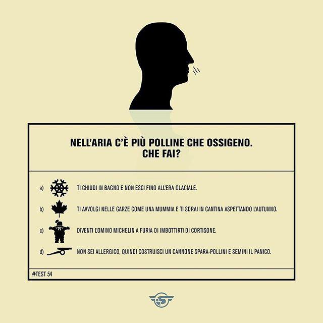 Test of the day! #FattiDellaStessaSostanzaDiCuiÈFattoIlMuco #GraminaceeBestieDiSatana #MaledettaAllergia #Shortology #AllergiaPortamiVia #mood #test #testoftheday #moody #mood #instamood #instaday #instafun #instadaily #infographic #graphicdesign #graphic #allergia #weekend #instagood #instamoments