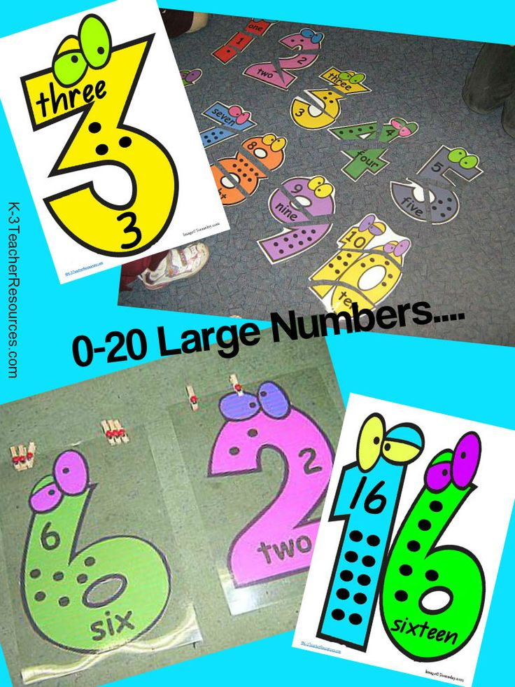 Printable Large Numbers - great for cutting up into puzzles.... cute !