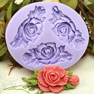 Amazon.com: 6.6cm mini Flower F0199 Fondant Mold Silicone Sugar mini mold Craft Molds DIY Cake Decorating: Home & Kitchen