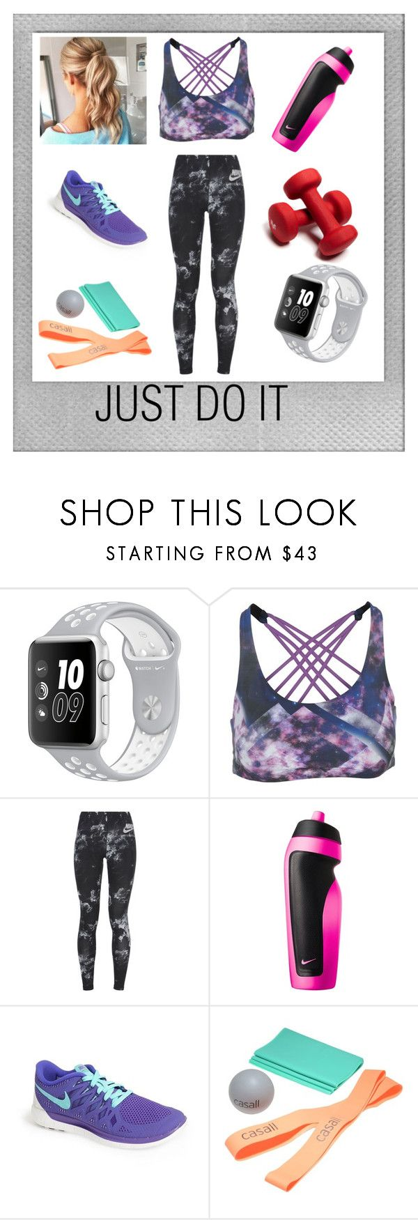 just do it by feliciamia on Polyvore featuring NIKE, Onzie, Casall and Polaroid