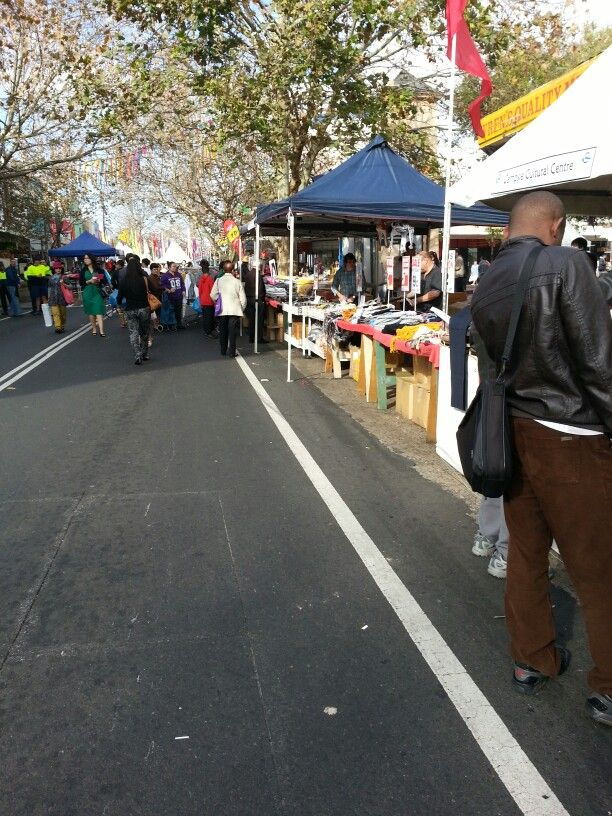 The Food Festival sets up