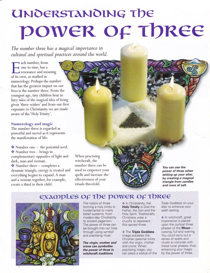 Book of Shadows:  #BOS Understanding the Power of Three page.