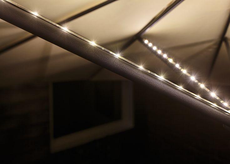 mobile strip parasol light schirmbeleuchtung 4er set 4x40cm garagenbeleuchtung beleuchtung sonnenschirm better homes and gardens solar spotlight