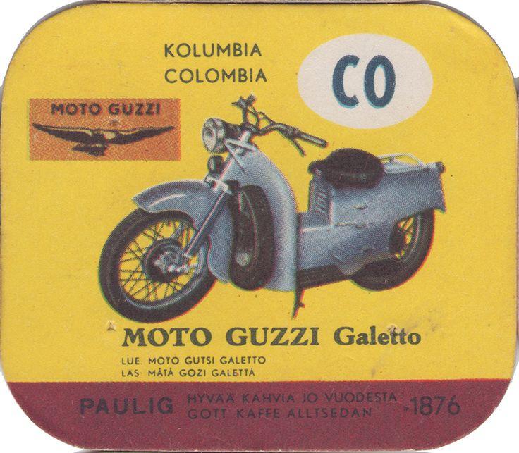 En nostalgitripp fram till jul med hjälp av Pauligs bilkort från mitten av 1900-talet. Moto Guzzi Galetto #motorcycles #vintage