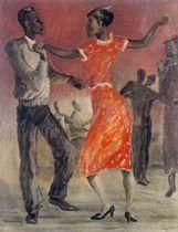 """The dancers in Harlem"" by Alexander Deineka, 1935"