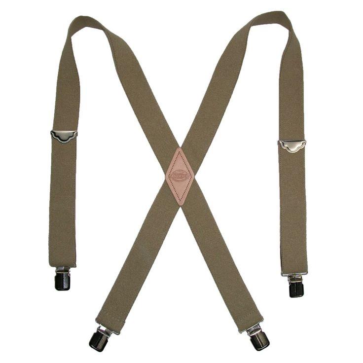 Dickies Work Suspenders. Nickel finish. X back. Dickies logo emboss on patch $9.95