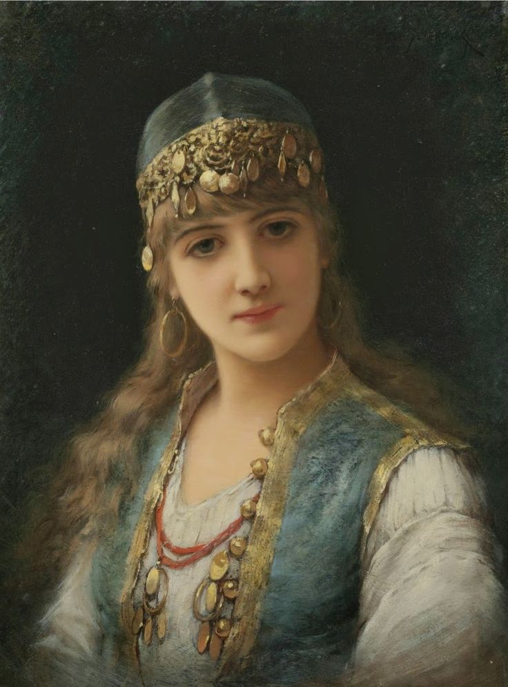 FRENCH PAINTERS: Émile EISMAN-SEMENOWSKY Harem Beauty