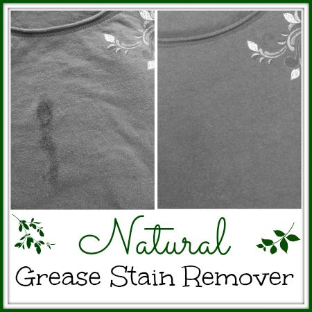 Get grease stains out of your clothes without toxic stain removers! Just one natural product will remove those ugly stains!